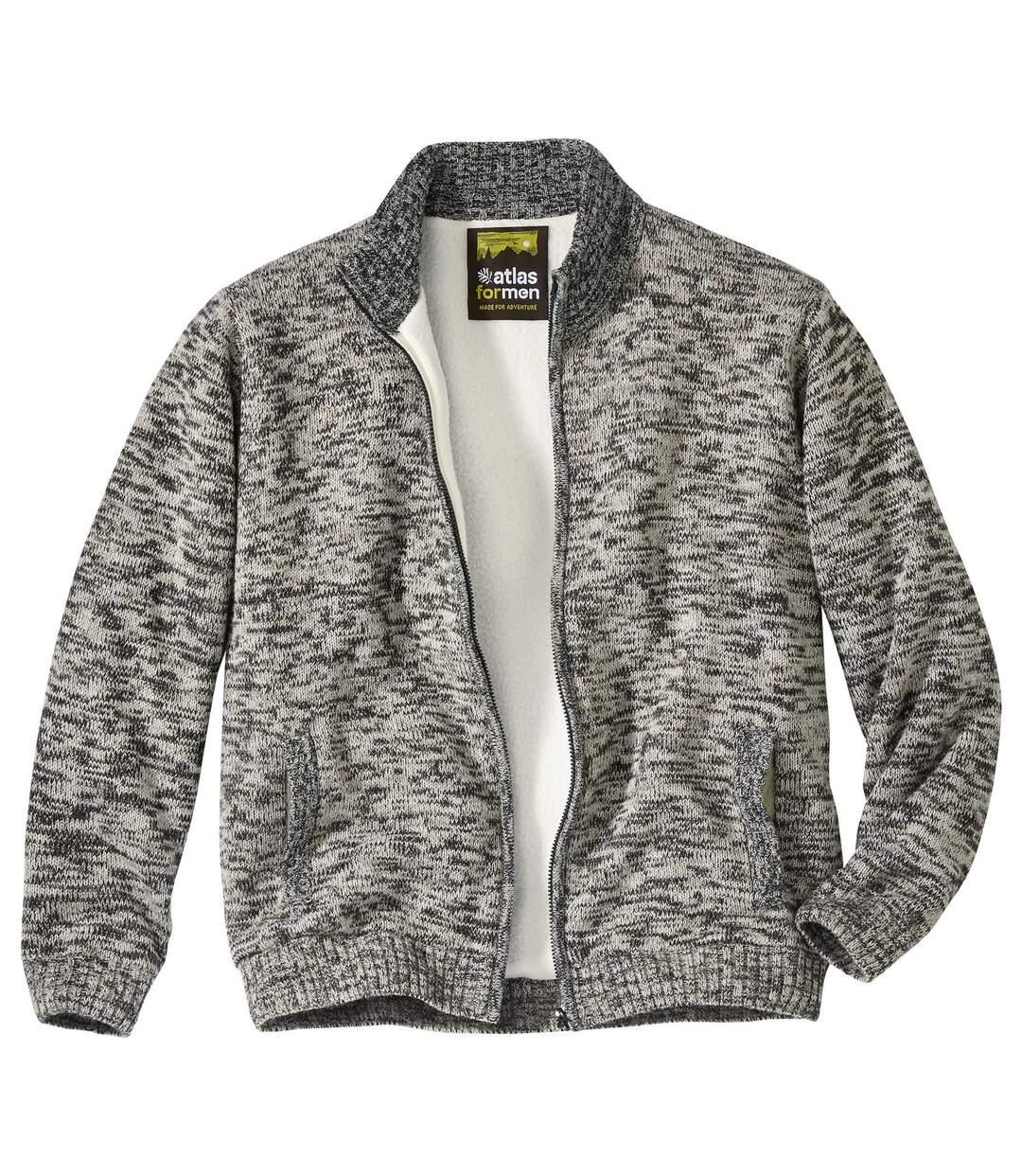 Trykotowa bluza ocieplana kożuszkiem sherpa Calgary