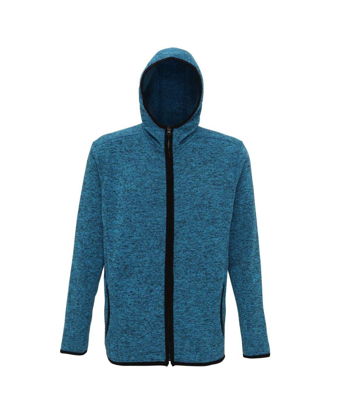 Tri Dri Mens Melange Knit Fleece Jacket (Sapphire/Black Fleck) - UTRW5459