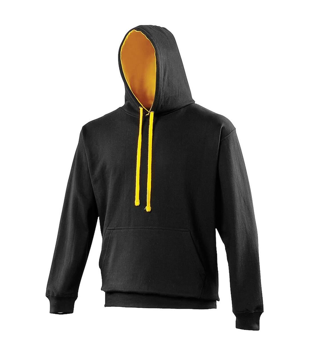 Awdis Varsity Hooded Sweatshirt / Hoodie (New French Navy/Heather Grey) - UTRW165