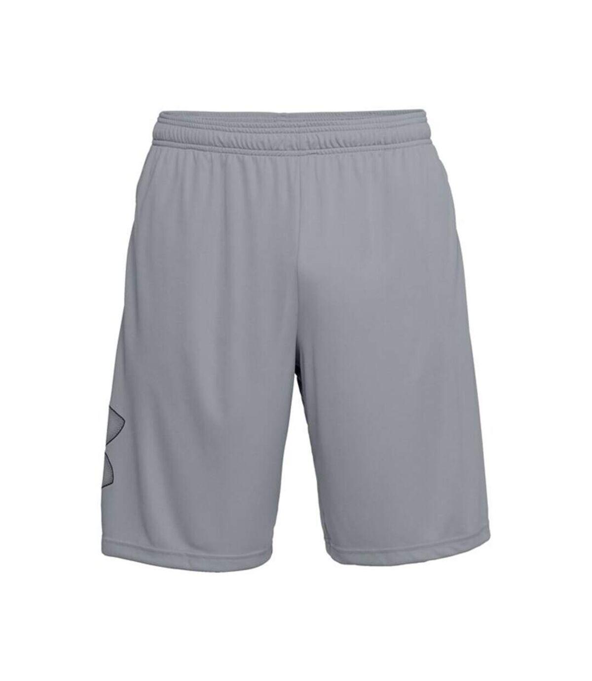 Under Armour Mens Tech Shorts (Steel Grey/Black) - UTRW7748