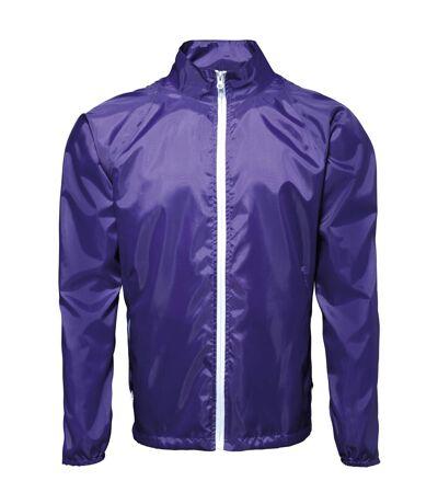 2786 - Lot de 2 vestes de pluie légères - Homme (Pourpre/Blanc) (L) - UTRW7001