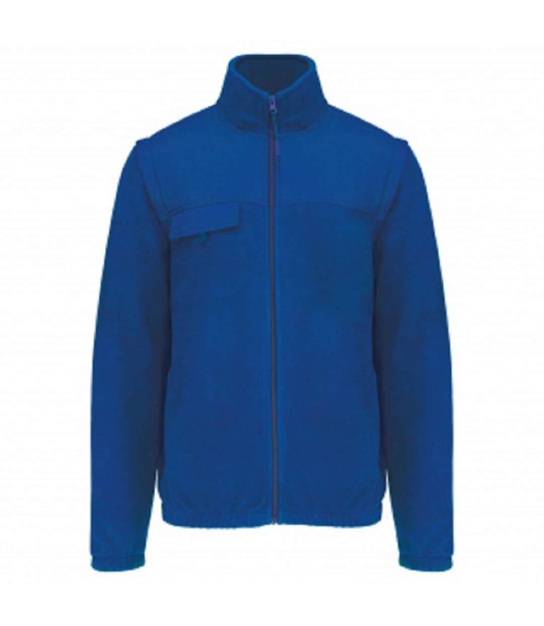 Veste polaire manches amovibles - K9105 - bleu roi