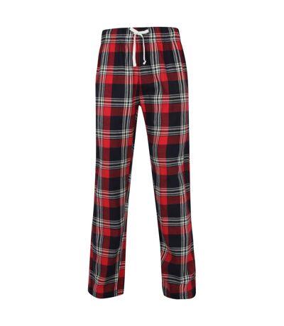 Skinnifit - Pantalon de pyjama en tartan - Homme (Rouge / bleu marine) - UTRW6023