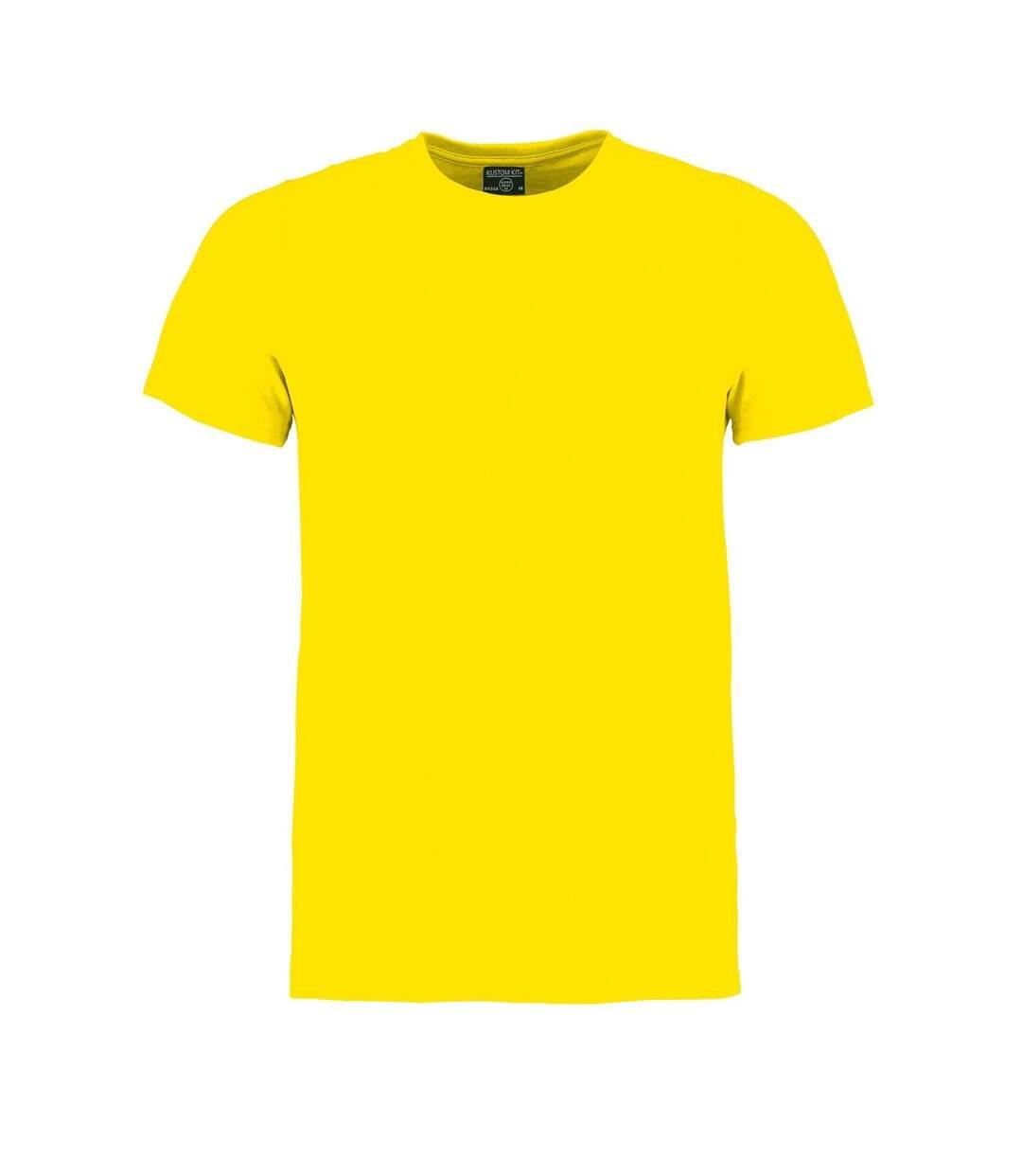 Kustom Kit Mens Superwash 60 Fashion Fit T-Shirt (Bright Yellow Marl) - UTBC3729