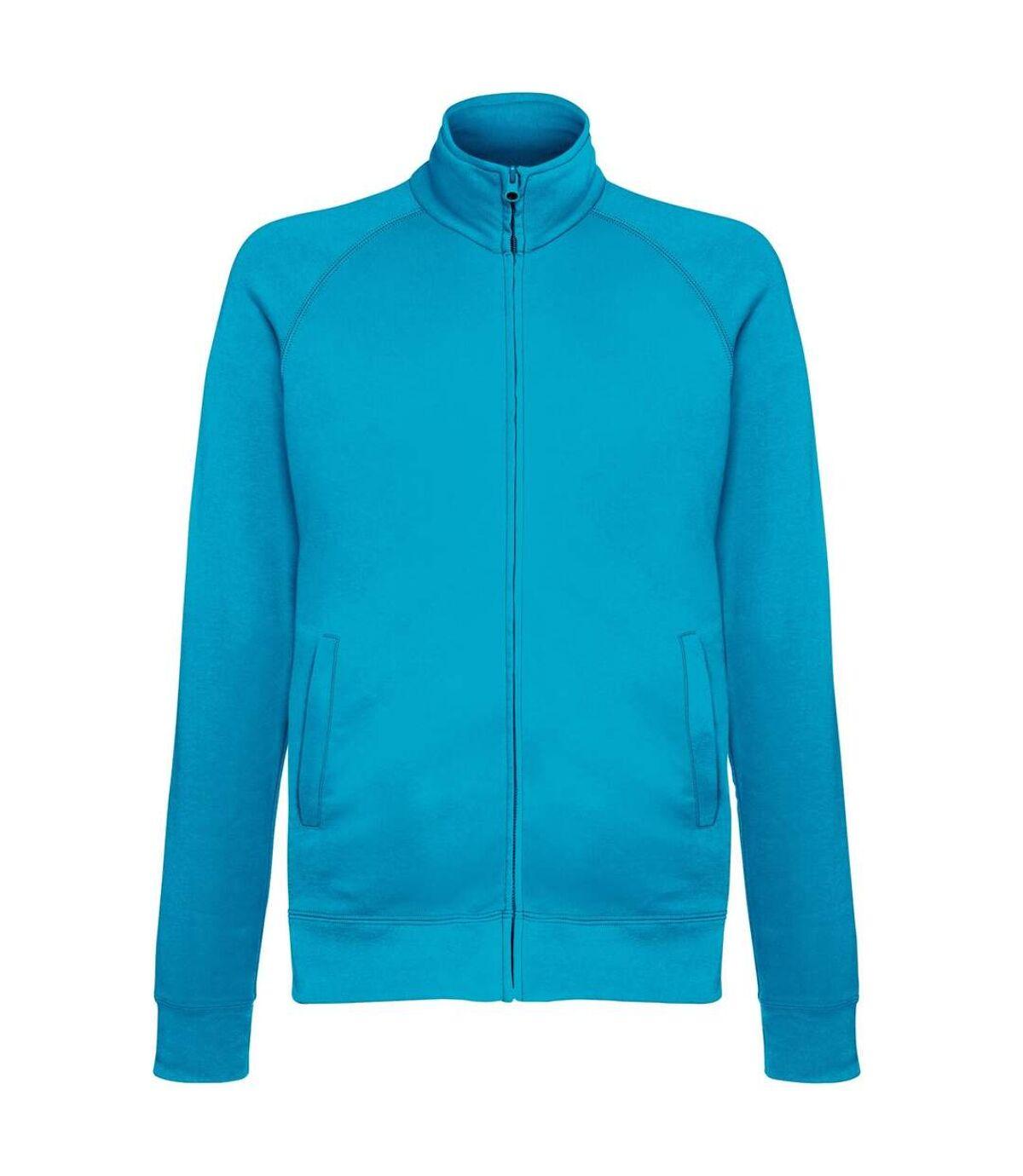 Fruit Of The Loom Mens Lightweight Full Zip Sweatshirt Jacket (Azure Blue) - UTRW4500