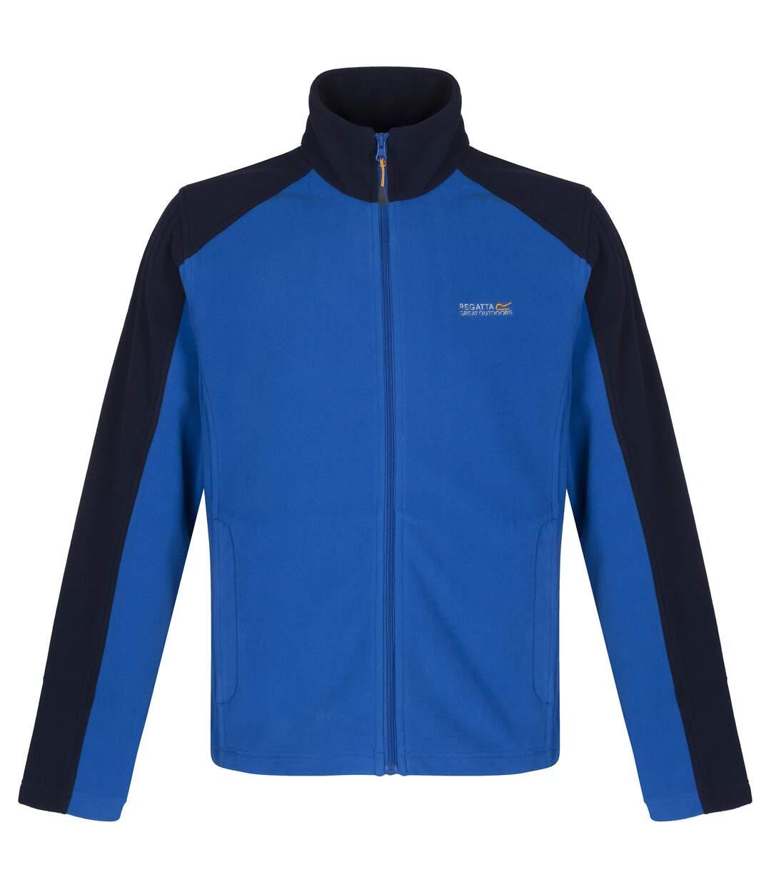 Regatta Great Outdoors Mens Hedman II Two Tone Full Zip Fleece Jacket (Oxford Blue/Navy) - UTRG1398