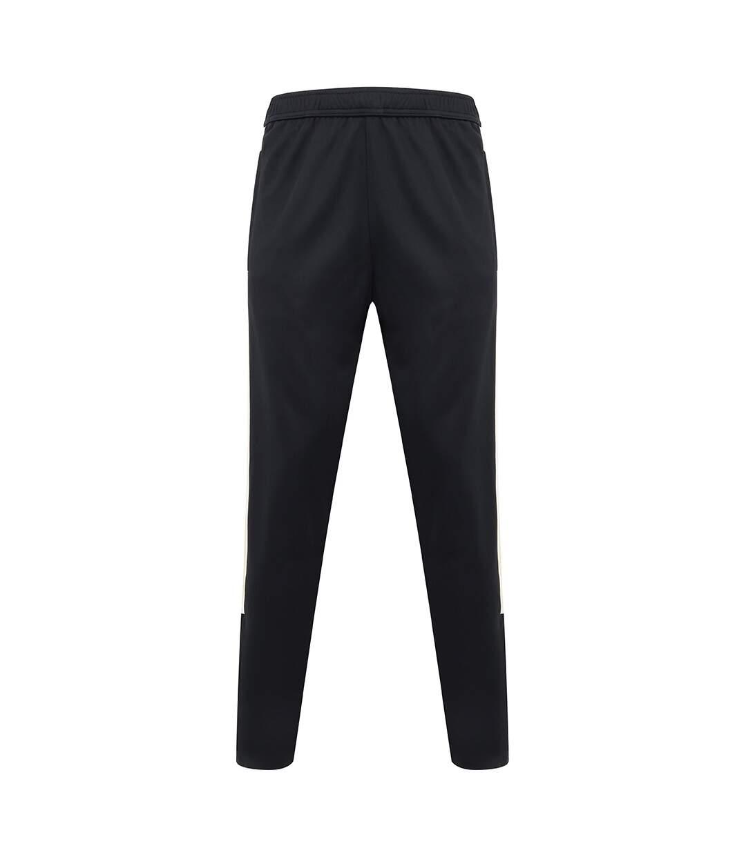 Finden & Hales Mens Knitted Tracksuit Pants (Black/Black) - UTPC3084