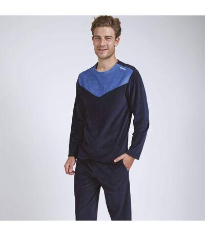 Pyjama long velours homme