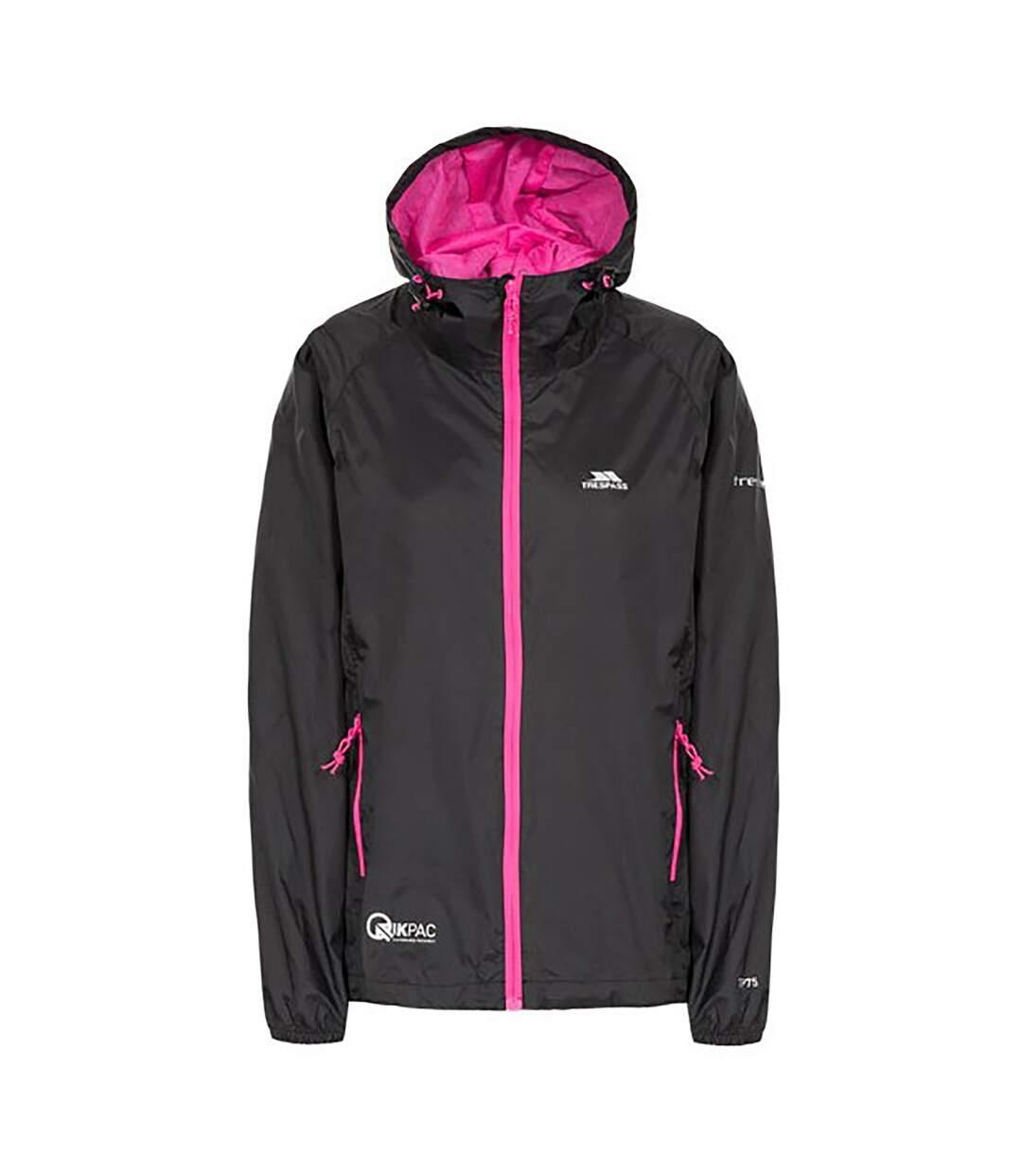 Trespass Womens/Ladies Qikpac Waterproof Packaway Shell Jacket (Navy) - UTTP3379