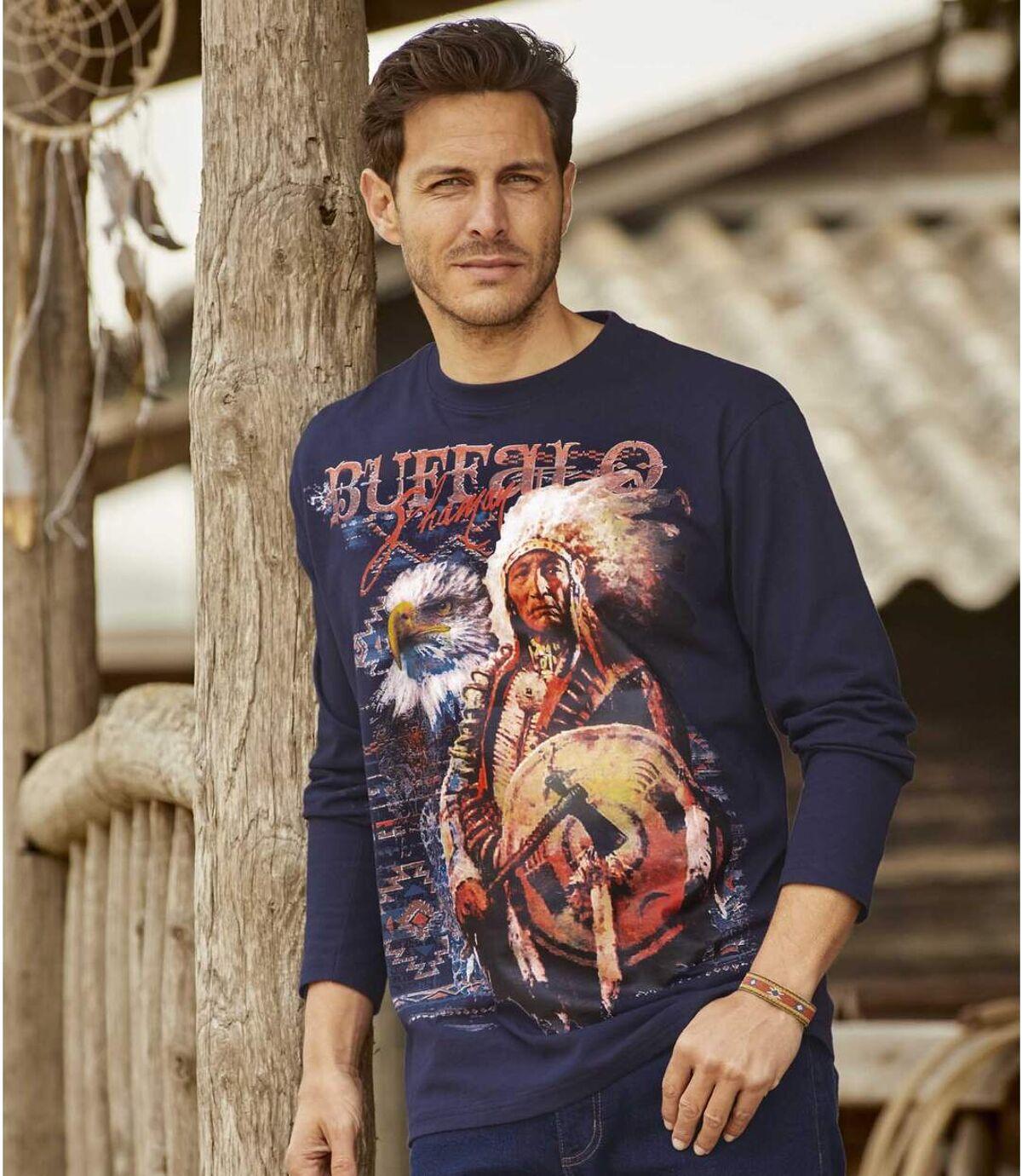 Buffalo Legend T-shirt met lange mouwen en print Atlas For Men