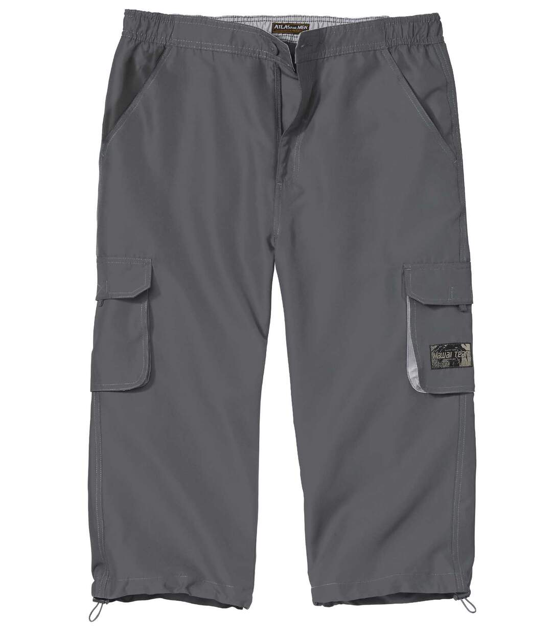 Men's Grey Cropped Trousers - Microfibre