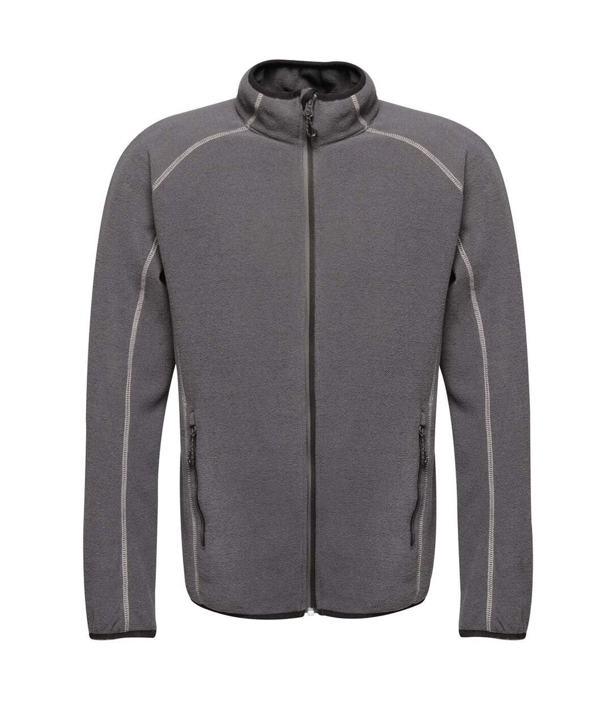 Regatta Mens Dreamste Full Zip Mini Honeycomb Fleece (Seal Grey) - UTRG4158