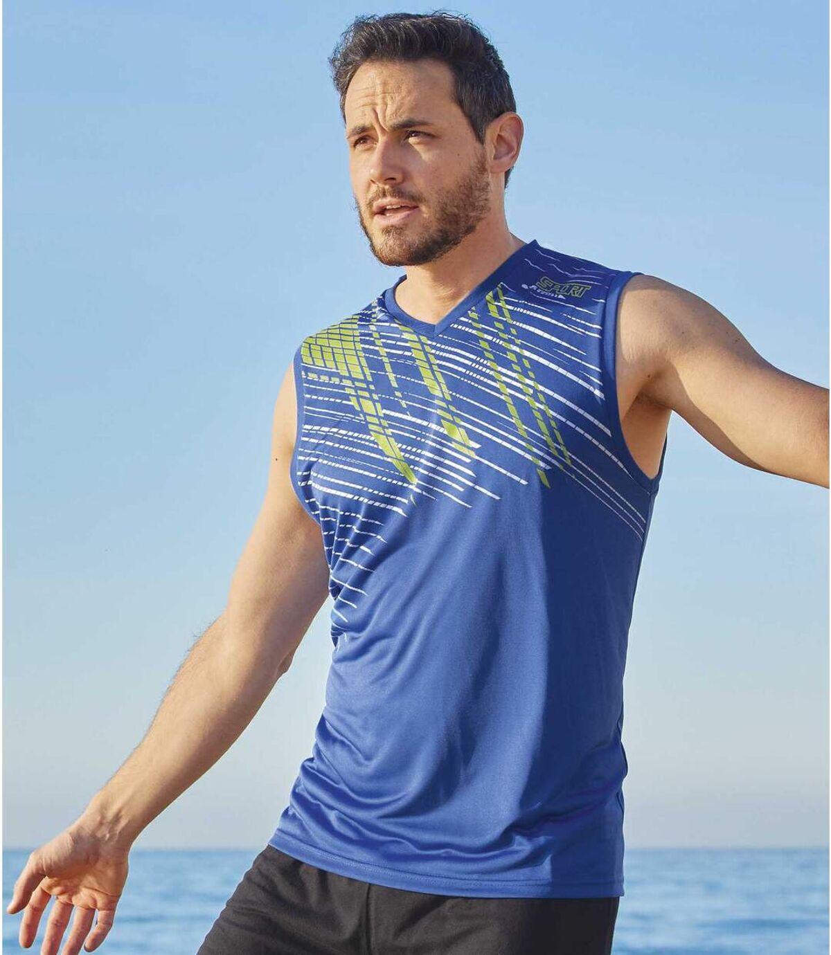 Zestaw 2 t-shirtów bez rękawów i z dekoltem w serek Sport Atlas For Men