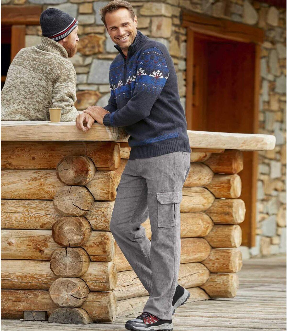 Sztruksowe spodnie bojówki ze stretchem Atlas For Men