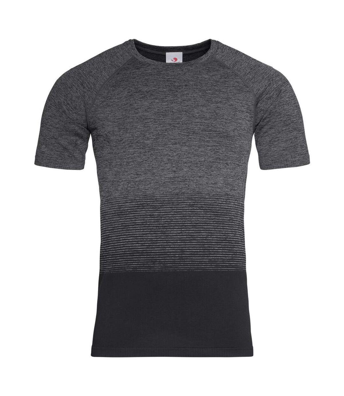 Stedman Mens Active Seamless Raglan Flow T-Shirt (Dark Grey Transition) - UTAB461