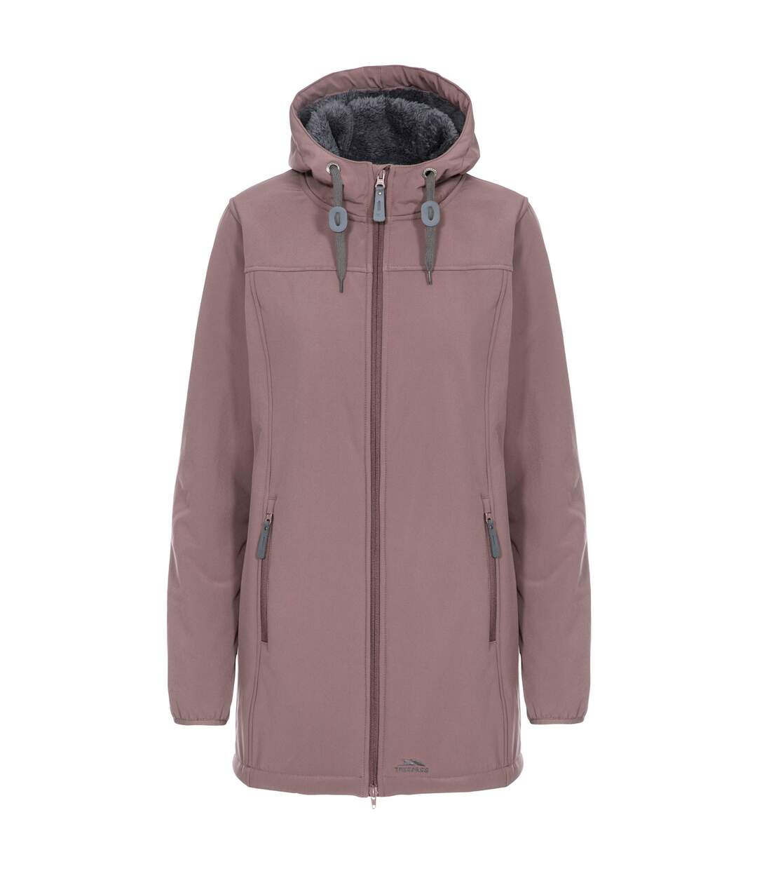 Trespass Womens/Ladies Kristen Longer Length Hooded Waterproof Jacket (Dusty Heather) - UTTP4195