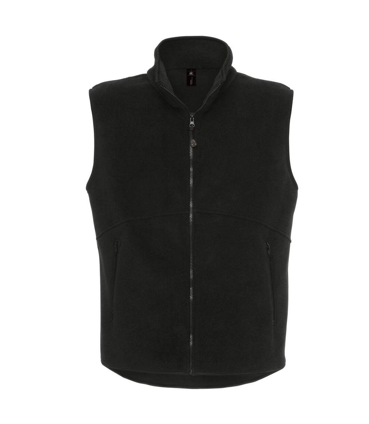 B&C Mens Traveller+ Full Zip Sleeveless Fleece Top (Black) - UTRW3032