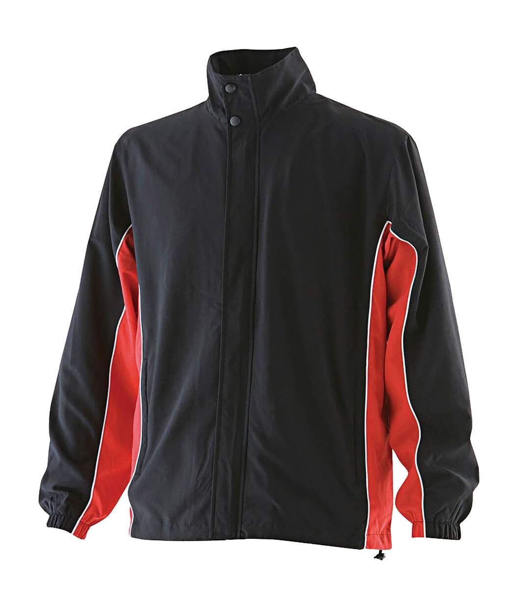Finden & Hales Mens Contrast Full Zip Sport Track Top (Black/Red/White) - UTRW453