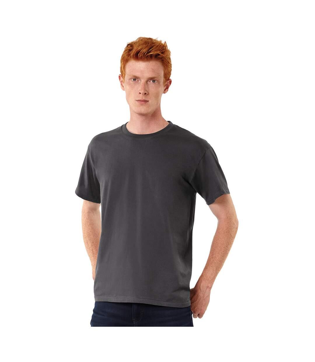 B&C Exact 190 Mens Crew Neck T-Shirt / Mens Short Sleeve T-Shirt (Dark Grey) - UTBC125