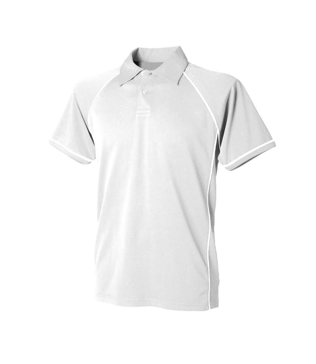 Finden & Hales - Polo Sport À Manches Courtes - Homme (Blanc/Blanc) - UTRW427