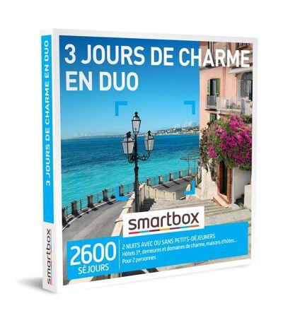 SMARTBOX - 3 jours de charme en duo - Coffret Cadeau Séjour