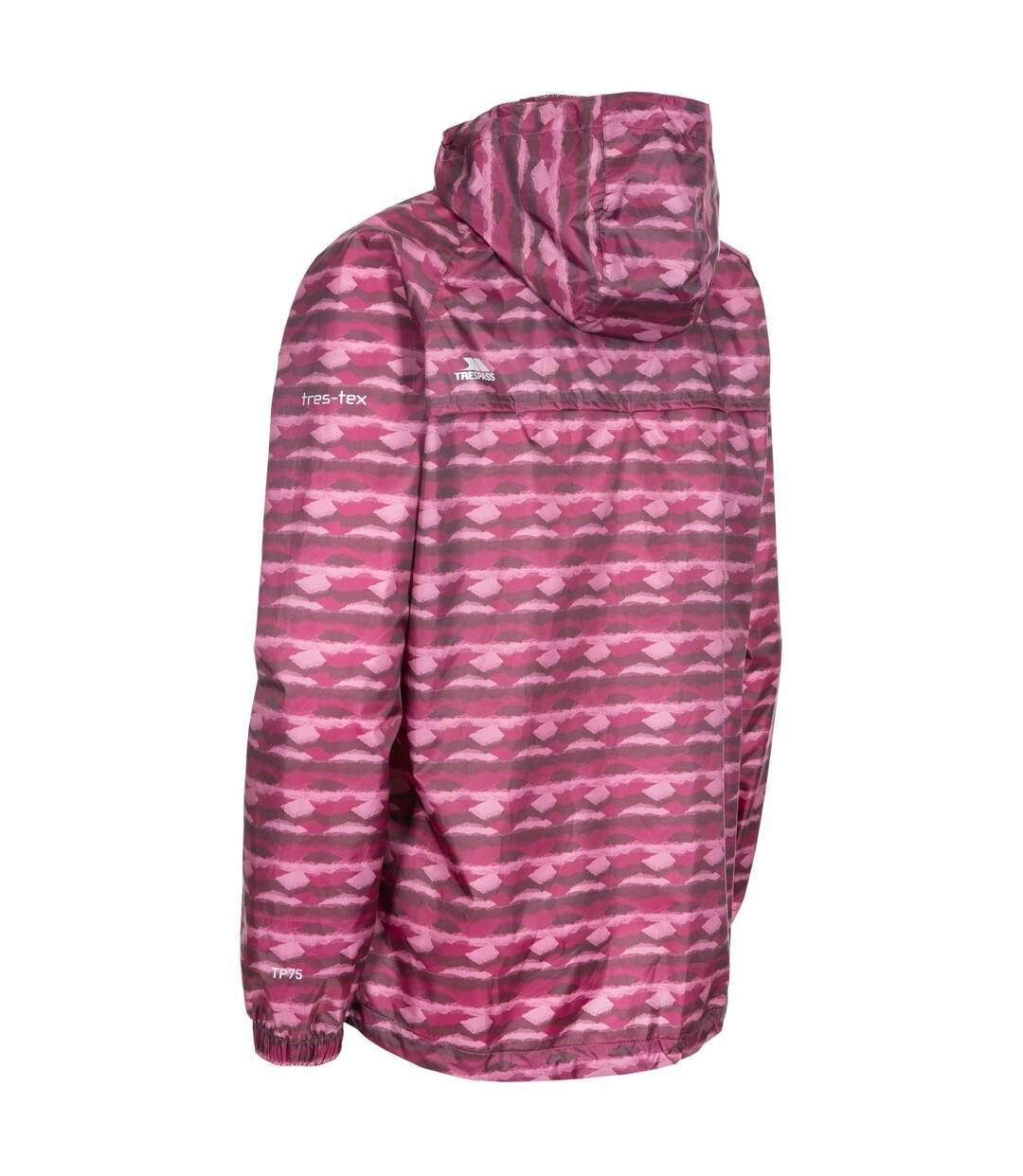Trespass Womens/Ladies Indulge Waterproof Packaway Jacket (Fig Print) - UTTP4649