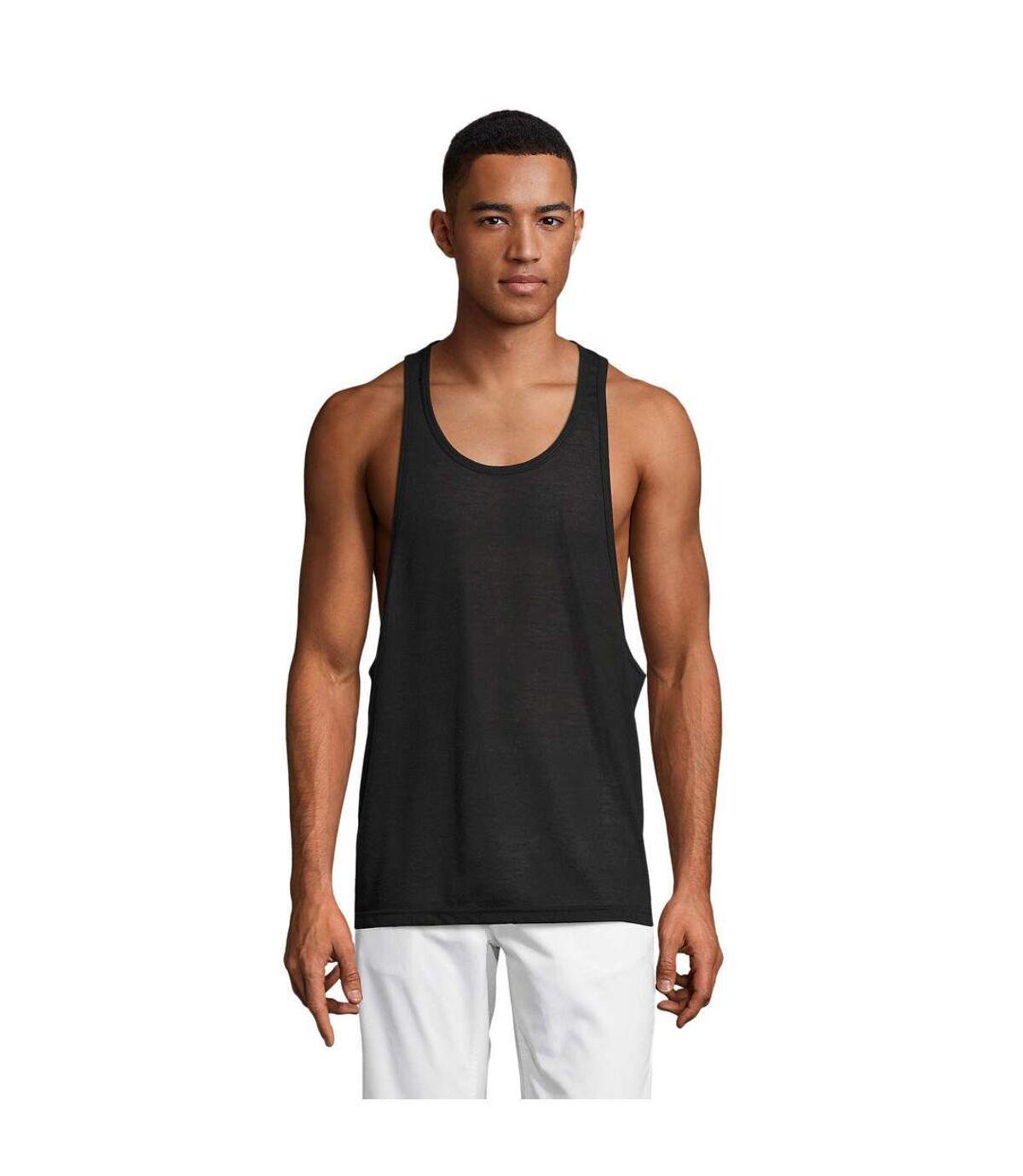 SOLS Unisex Jamaica Sleeveless Tank / Vest Top (Black) - UTPC2179