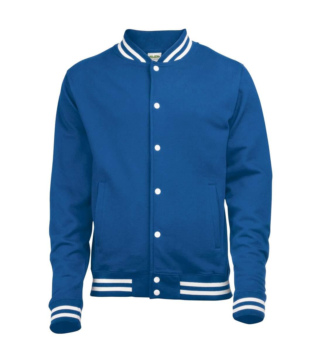 Awdis Adults Unisex College Varsity Jacket (Heather Grey) - UTRW174