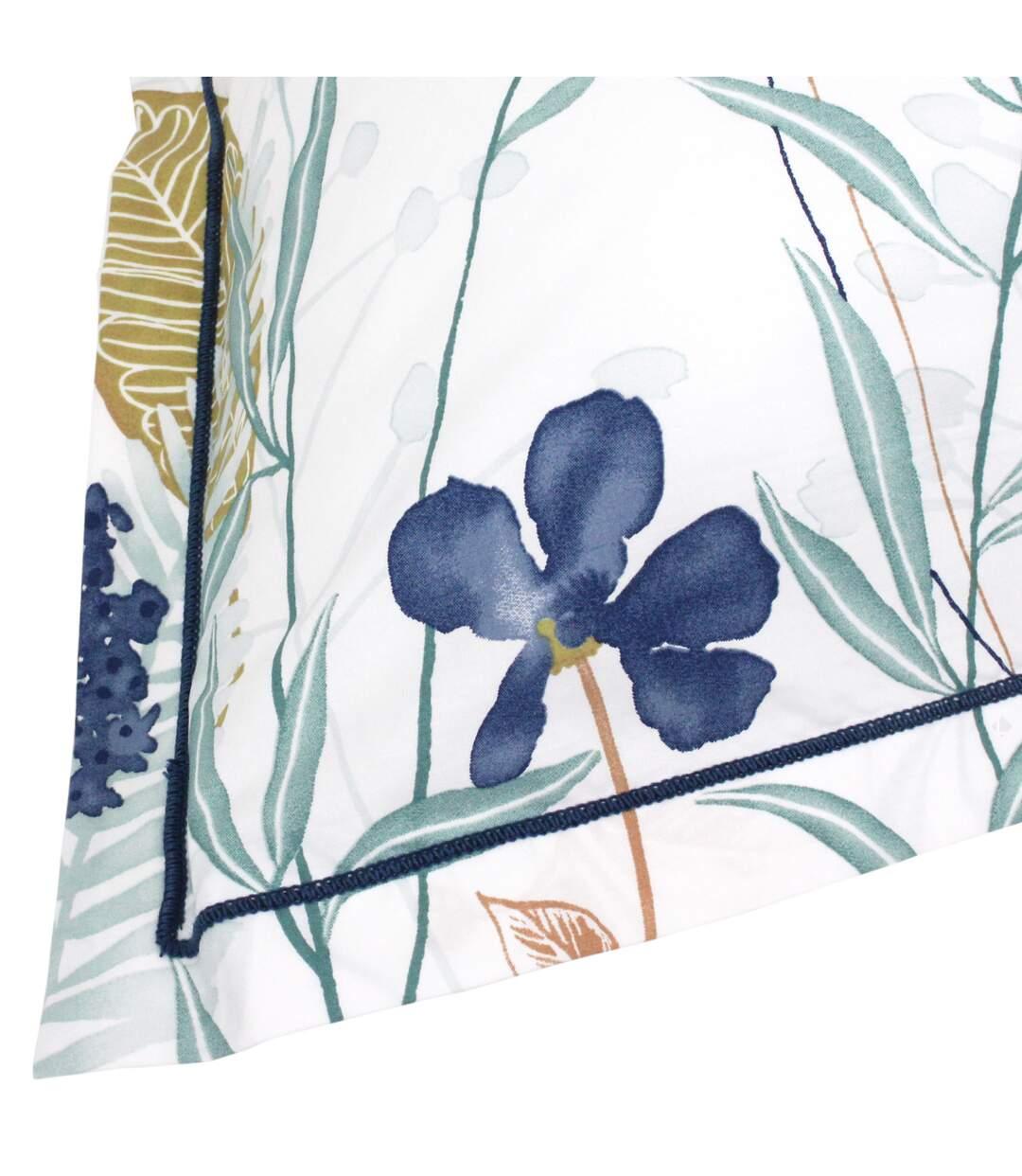 Parure de lit 140x200 cm Percale pur coton PETITE FOLIE Bleu 2 pièces