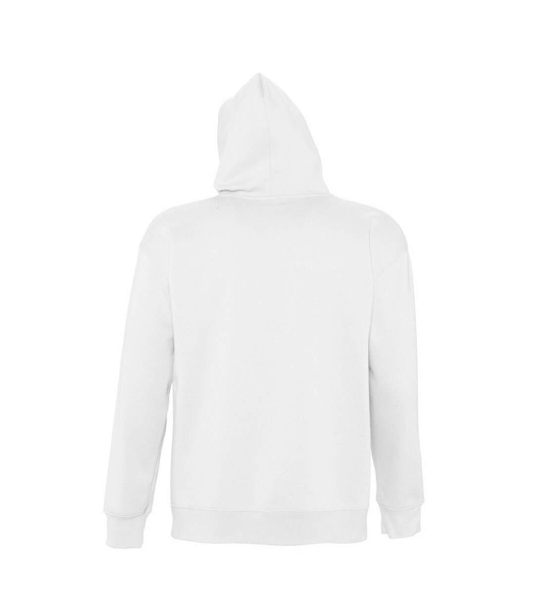 SOLS Slam Unisex Hooded Sweatshirt / Hoodie (White) - UTPC381