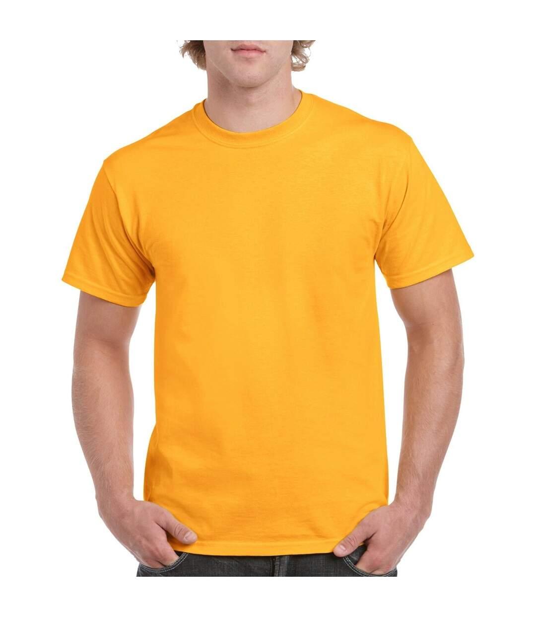 Gildan Mens Heavy Cotton Short Sleeve T-Shirt (Pack Of 5) (Cornsilk) - UTBC4807