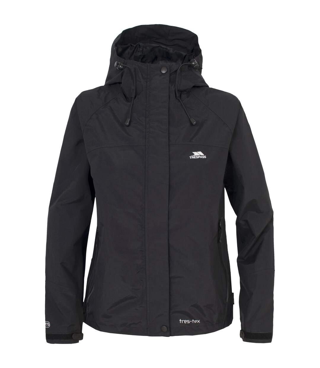 Trespass Womens/Ladies Miyake Hooded Waterproof Jacket (Black) - UTTP165
