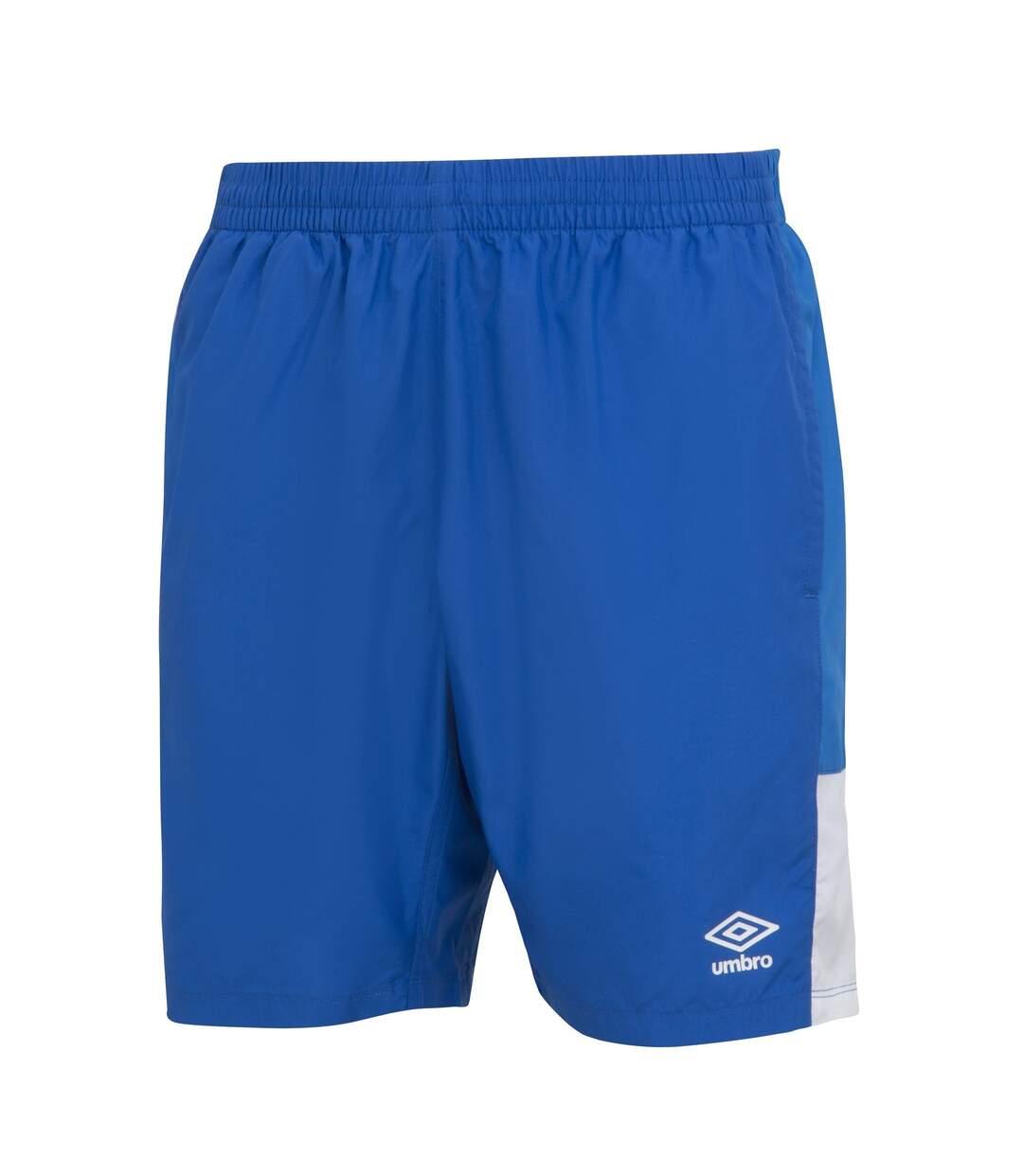 Umbro Mens Training Shorts (Royal Blue/French Blue/White) - UTGD111