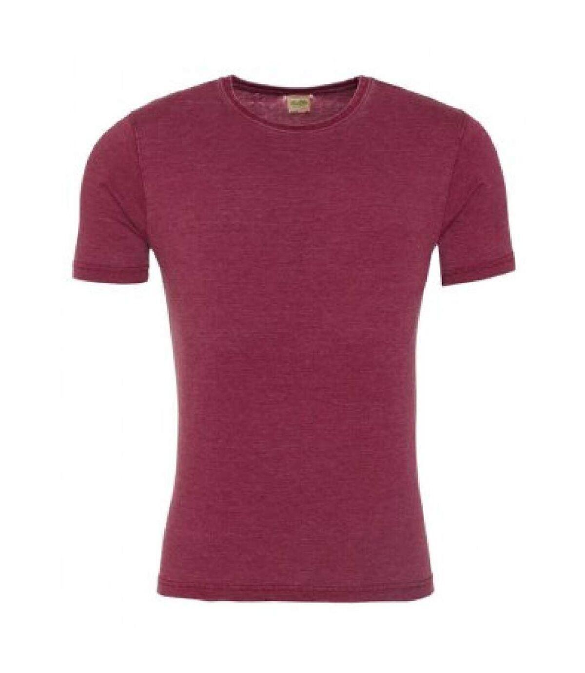 AWDis Mens Washed T Shirt (Washed Burgundy) - UTPC2899