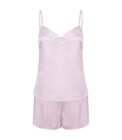 Towel City Ladies/Womens Satin Cami Short PJs (Light Pink) - UTPC4070