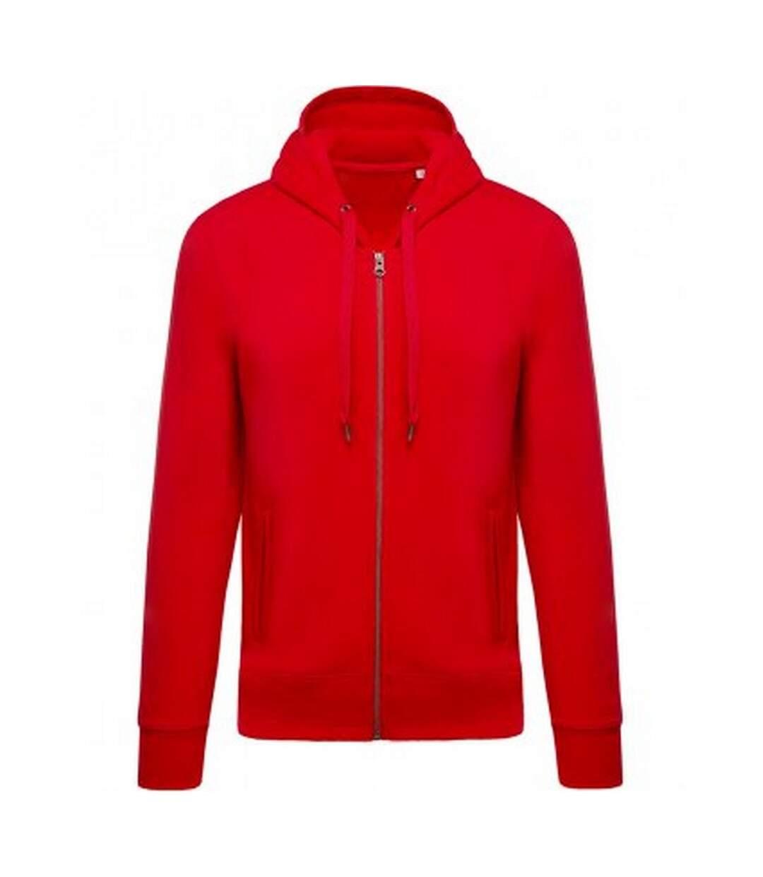 Kariban Mens Organic Zip Hoodie (Red) - UTPC3074
