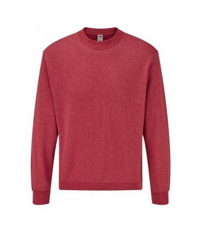 Fruit Of The Loom Mens Classic Drop Shoulder Sweatshirt (Heather Red) - UTPC3669