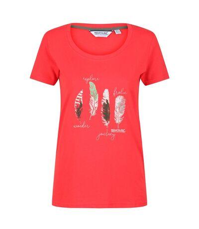 Regatta - T-shirt imprimé FILANDRA - Femme (Rouge) - UTRG5064