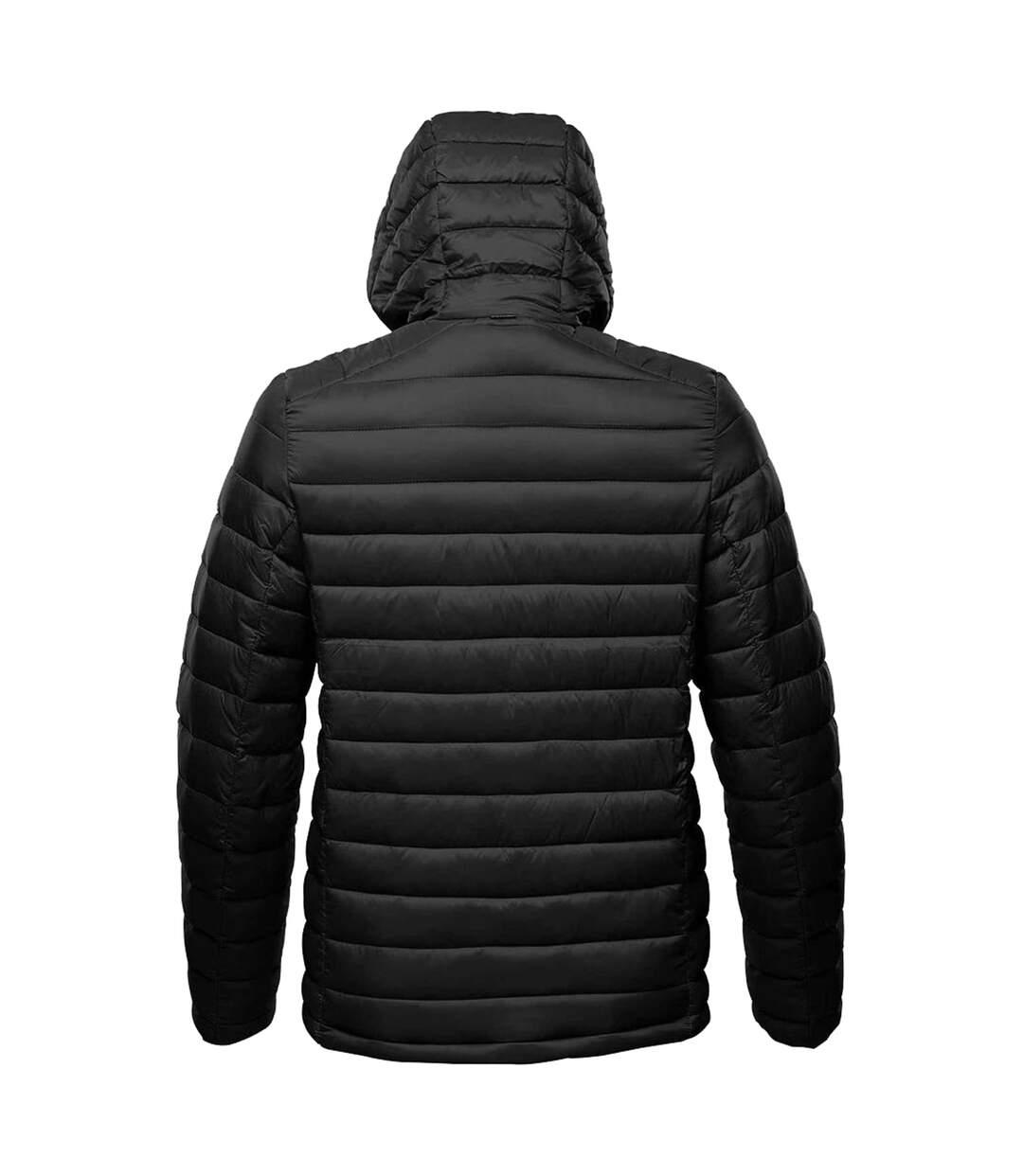 Stormtech Mens Gravity Hooded Thermal Winter Jacket (Durable Water Resistant) (Blue/Black) - UTBC3064