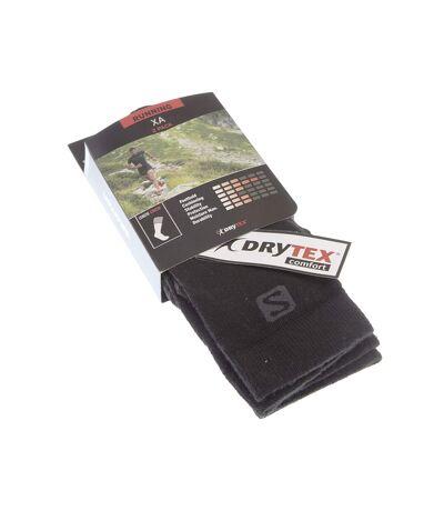 Chaussette Niveau mollet - Lot de 2 - Pointe renforcée - Respirantes - Randonnée - Noir - XA 2-PACK BLACK/BLACK