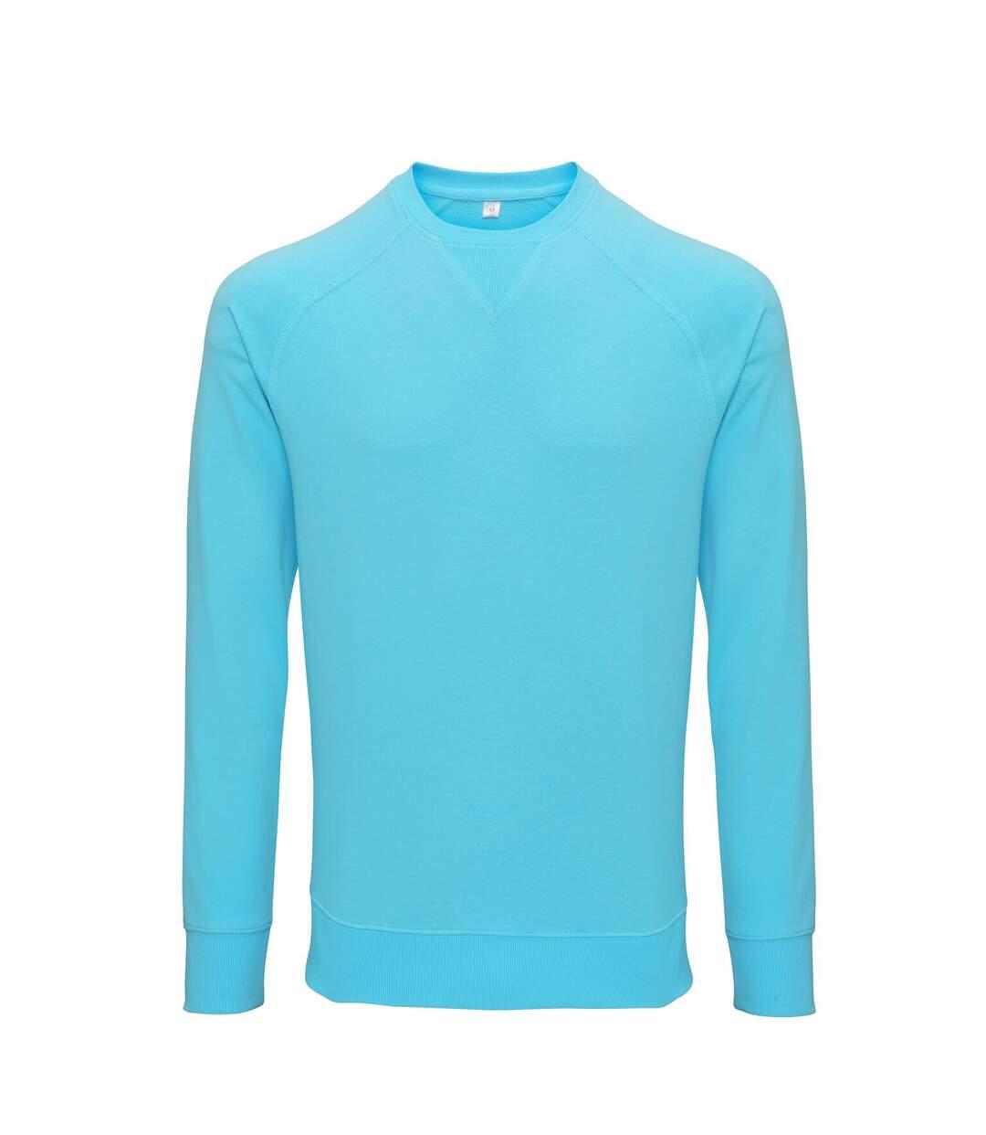 Asquith & Fox Mens Coastal Vintage Wash Loop Back Sweatshirt (Bright Ocean) - UTRW6240
