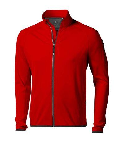 Elevate Mens Mani Power Fleece Full Zip Jacket (Red) - UTPF1942