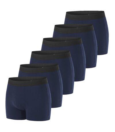 Lot de 6 Boxers homme en coton bio My Esssential Bleu Marine