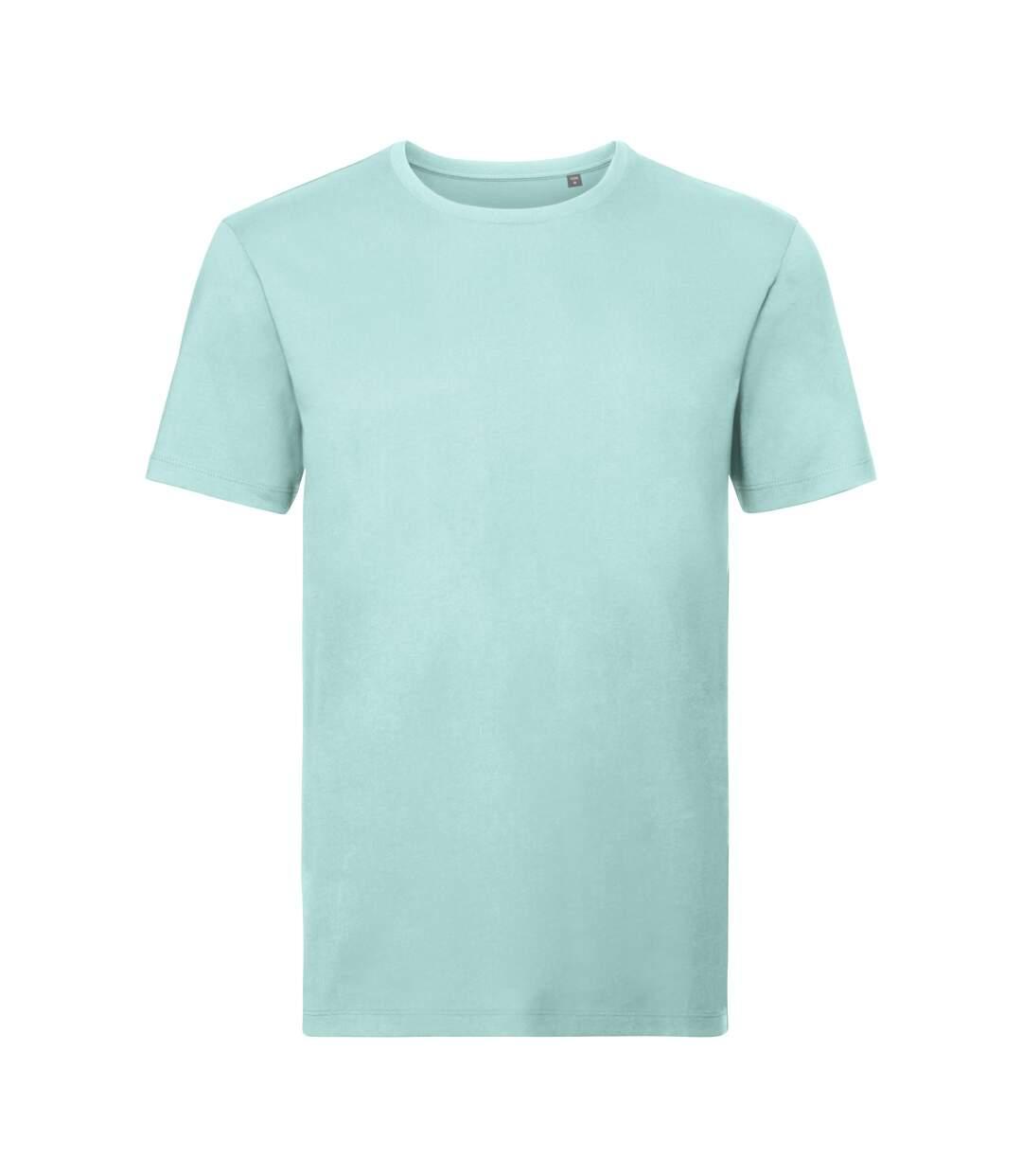 Russell Mens Authentic Pure Organic T-Shirt (Aqua) - UTPC3569