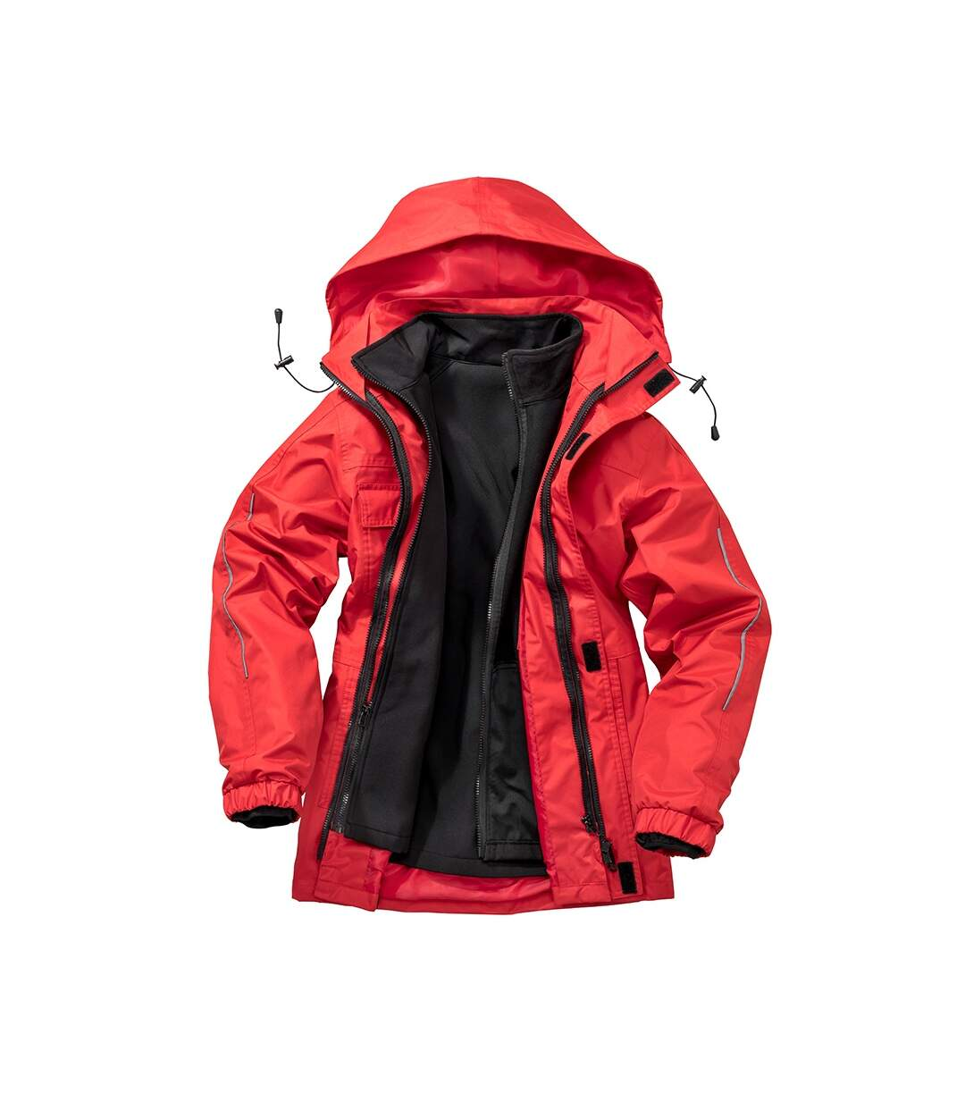 Result Core Mens Printable 3-In-1 Transit Jacket (Red) - UTPC2639