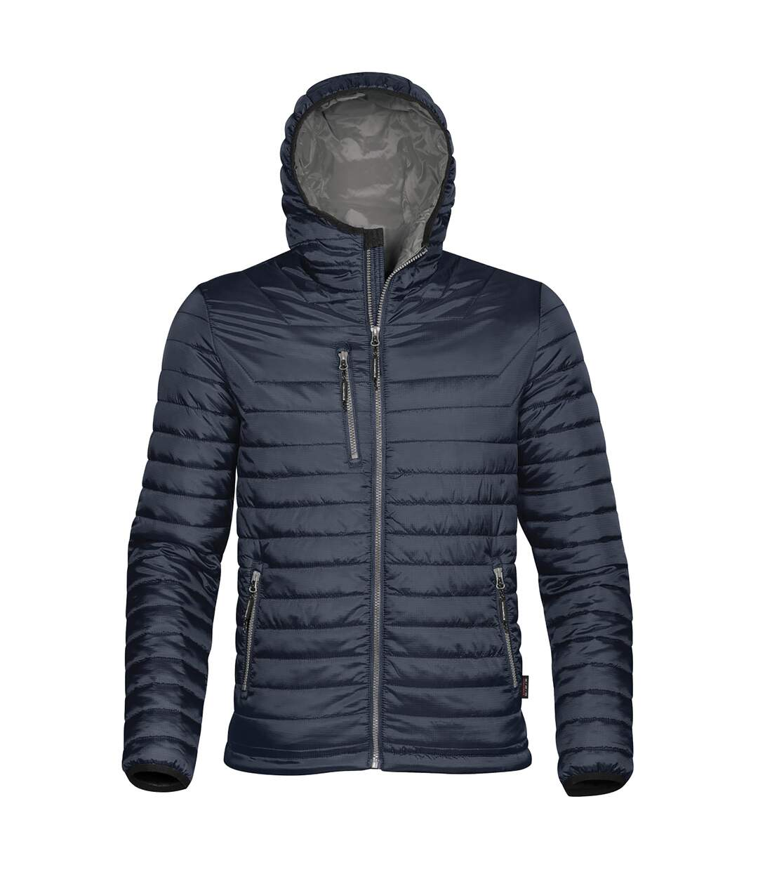 Stormtech Mens Gravity Hooded Thermal Winter Jacket (Durable Water Resistant) (Navy/Charcoal) - UTBC3064