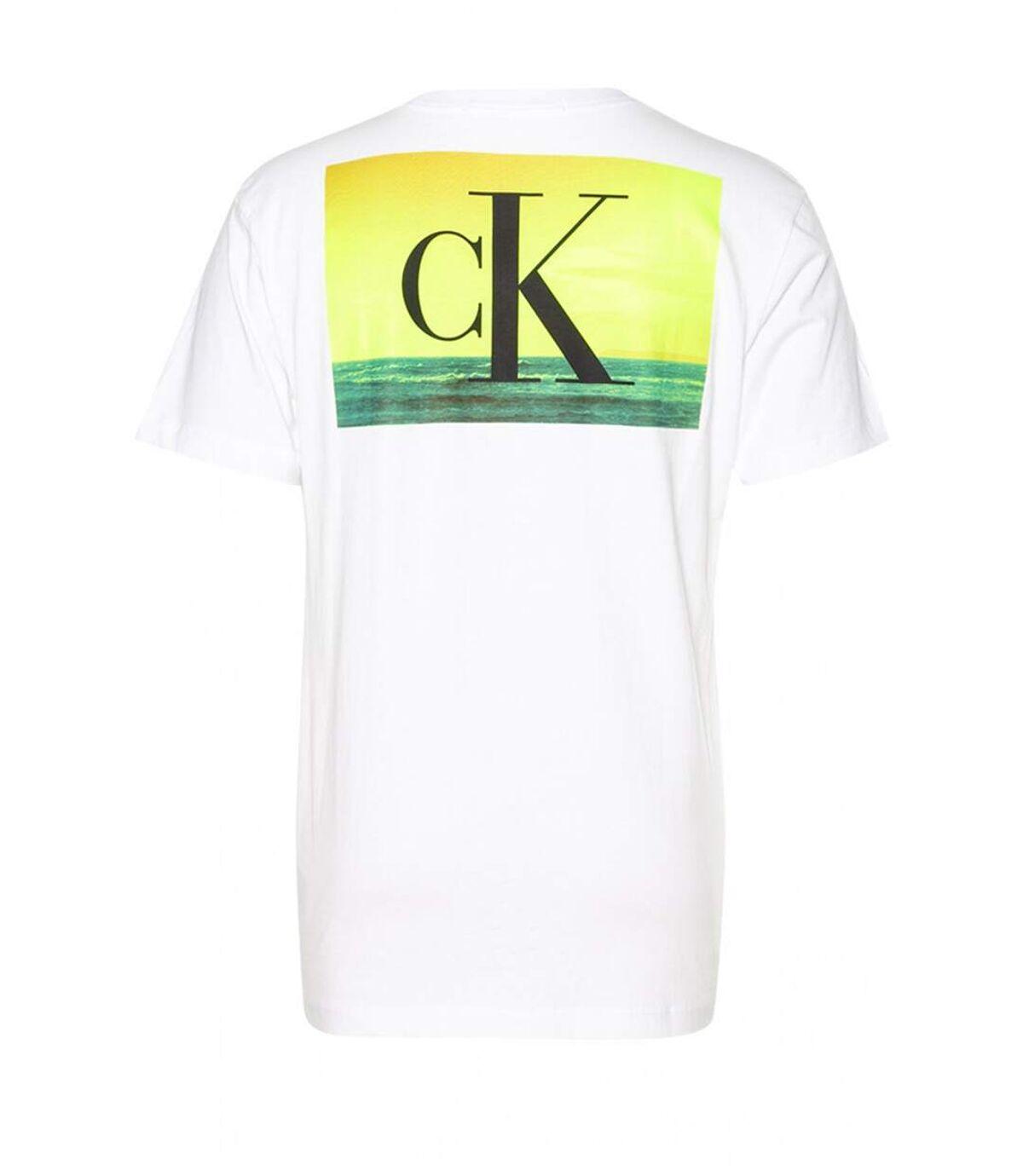 Tee shirt coton dos à gros logo  -  Calvin klein - Homme