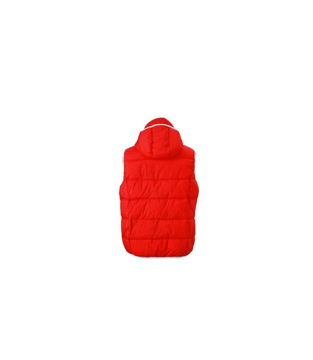 Doudoune sans manches pour homme - JN1076 - rouge