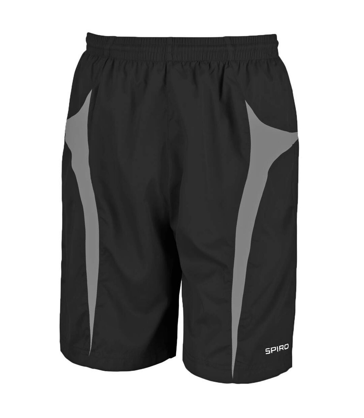 Spiro Mens Micro-Team Sports Shorts (Grey/Aqua) - UTRW1478