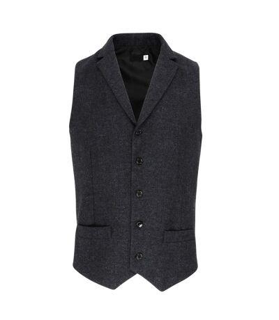 Premier Mens Herringbone Waistcoat (Dark Grey) - UTRW6600